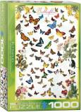 Puzzle Eurographics - 1000 de piese - Butterflies