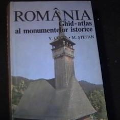 ROMANIA- GHID ATLAS AL MONUMENTELOR  ISTORICE-C.CUCU-M. STEFAN- ST. PANDELE-, Alta editura