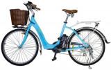 Bicicleta electrica Nova Vento Mlady L2601, Roti 26inch, 7 viteze, Motor 250 W, Viteza maxima 25 Km/h, Autonomie 70 Km (Albastru)