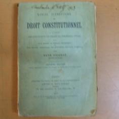 Drept constitutional Rene Foignet 1914 Droit constitutionnel manuel elementaire