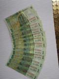 Bancnote Romania : 11 emisiuni ale bancnotei de 1 leu actuala:2005 pana in 2017