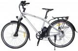 Bicicleta electrica Nova Vento Long Run L2803, Roti 28inch, 7 viteze, Viteza maxima 25 Km/h, Autonomie 70 Km (Argintiu)