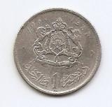 Maroc 1 Dirham 1960 - Mohammed V, Argint 6g/600, 24 mm KM-55, Africa