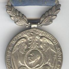 ÎN AMINTIREA INĂLŢĂTORULUI AVÂNT - 1913 - REGELE CAROL 1 -  Medalie  SUPERBA