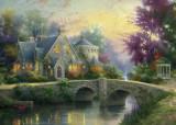 Puzzle Schmidt - 3000 de piese - Thomas Kinkade : Lamplight Manor