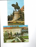 Vederi ( Carti  postale) -Cluj- Statuia  lui  Matei  Corvin, Necirculata, Fotografie