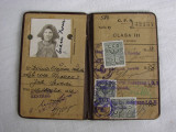Legitimatie de calatorie CFR 75% reducere, document emis in anul 1936, Romania 1900 - 1950, Documente