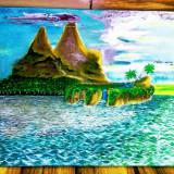 Tablou pictat în ulei pe panza / dimensiuni 55x46 cm, Peisaje, Altul