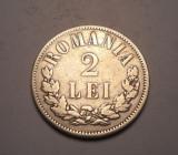 2 lei 1876 Rara