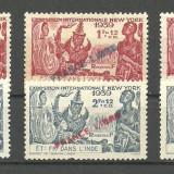 INDIA - ( COLONIE  FRANCEZA )  EXPO  1939 SERII COMLETE CU SUPRATIPARE   MNH, Nestampilat