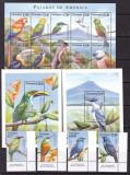 Nicaragua 2000  fauna  pasari  MI 4178-4193 serie + klb. + 2 bl.    MNH  w51, Nestampilat