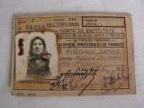 Carte de identitate - Caile Ferate Romane cls. a 3-a,  emisa in 1947, Europa, Documente