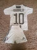 Echipament copii 4-16 ani FC JUVENTUS,10 DYBALA MODEL NOU 2018-2019, YS, YXL, YXS, Set echipament fotbal