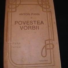 POVESTEA VORBII- ANTON PANN-623 PG-