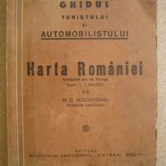 HARTA ROMANIEI ( 40 de planse ) - M. D. MOLDOVEANU - 1946