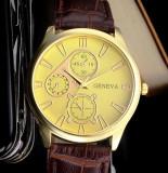 Ceas barbati - marca Geneva - model 1 cadran auriu, Elegant, Quartz