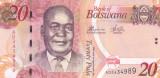 Bancnota Botswana 20 Pula 2012 - P31c UNC
