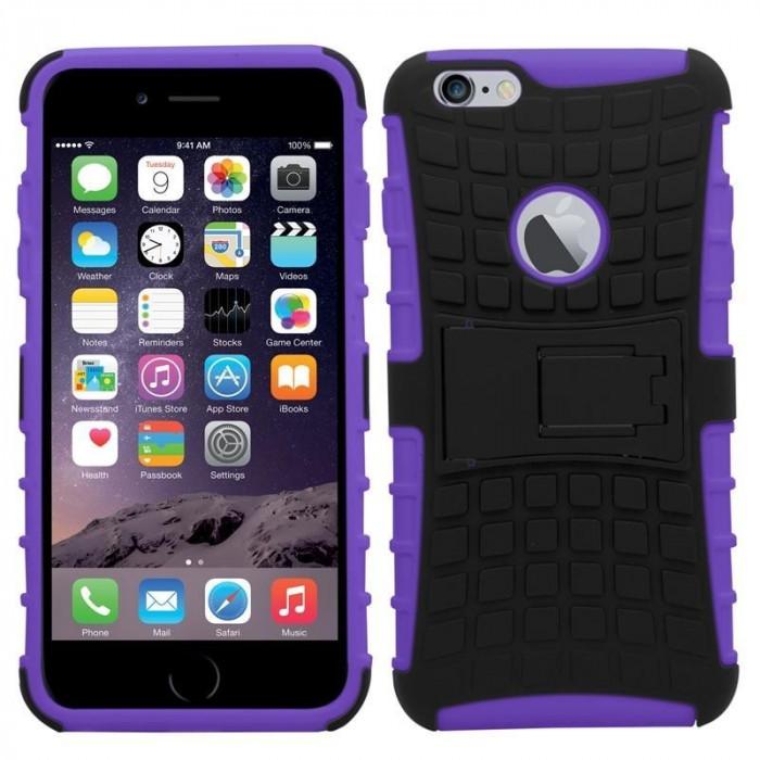 Husa antisoc pentru iPhone 6 / iPhone 6S Culoare Violet foto mare