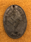 Dog tag armata  germana,ww2,kriminal polizei,Berlin
