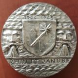 Franta - Medalie Argint 1976 - 186.78 gr. Diam 58.5 mm, Rhin et Danube- 400 ex., Europa