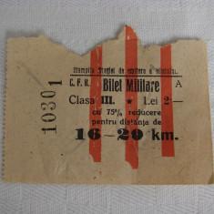 Raritate!!! Bilet vechi de tren CFR clasa III din anul 1925