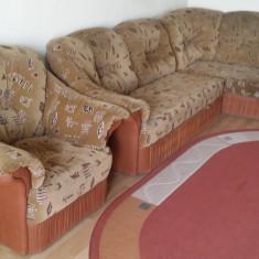 Canapea colt extensibila si fotoliu