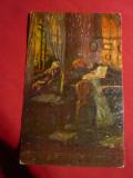 Ilustrata -Pictura- Interior- Leipzig ,cenzurata ,circ. la Sibiu, Circulata, Printata