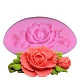 Forma silicon trandafir 3D