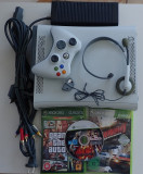 Consola Microsoft Xbox 360 Alb GTA Tekken Brunout complet impecabil + hard disk
