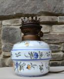 Cumpara ieftin Rezervor  lampa din ceramica pictata convertita in lampa electrica Franta, Lampi
