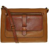 Geanta Fossil Dama Kinley Glazed Pebbled Leather Crossbody Cross Body Bag Satchel - Maro