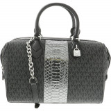 Geanta Michael Kors Dama Large Grayson Convertible Leather Top-Handle Bag Satchel - Negru, Michael Kors