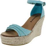 Bearpaw dama Blossom Tiffany Blue Ankle-High Fabric Sandal, 40