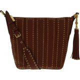 Geanta Michael Kors Dama Medium Brooklyn Grommet Leather Feed Bag Shoulder Tote - Brick, Michael Kors