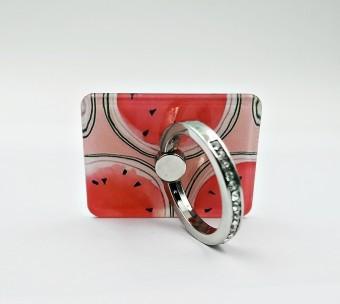Suport telefon Diamonds tip inel metalic model Watermelon foto
