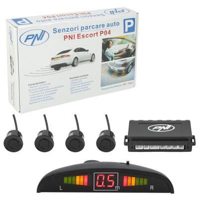 Resigilat : Senzori parcare auto PNI Escort P04 cu 4 receptori foto
