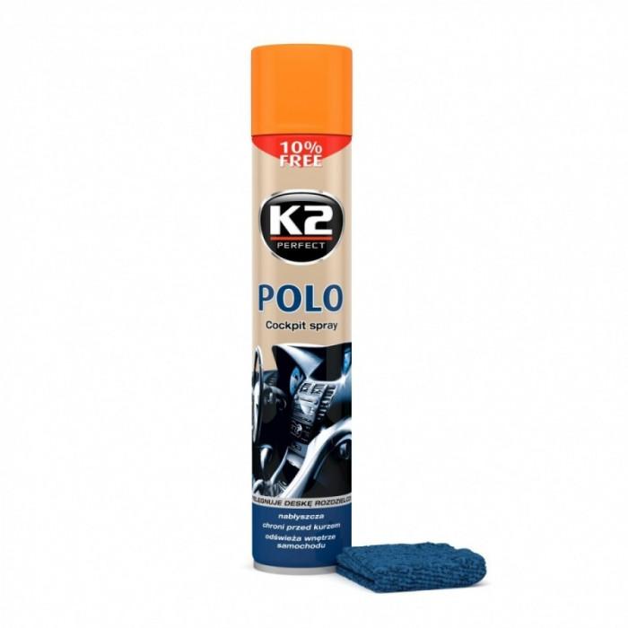 K2 Spray Silicon Polo Cockpit Piersica + Laveta 750ML