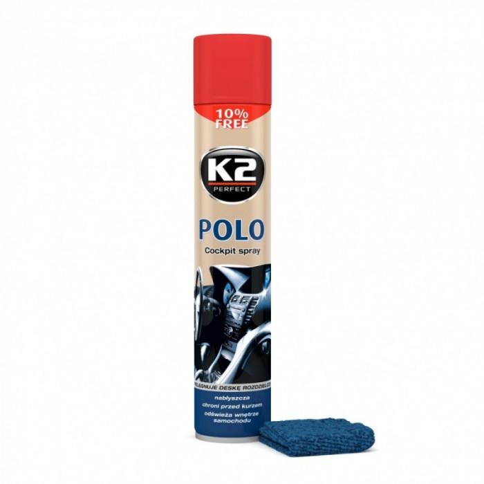 K2 Spray Silicon Polo Cockpit Cirese + Laveta 750ML