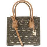 Geanta Michael Kors Dama Medium Mercer Studded Leather Shoulder Bag Top-Handle - Maro, Michael Kors
