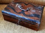 Caseta seif valori cutie metal tabla cheie bijuterii noua vintage