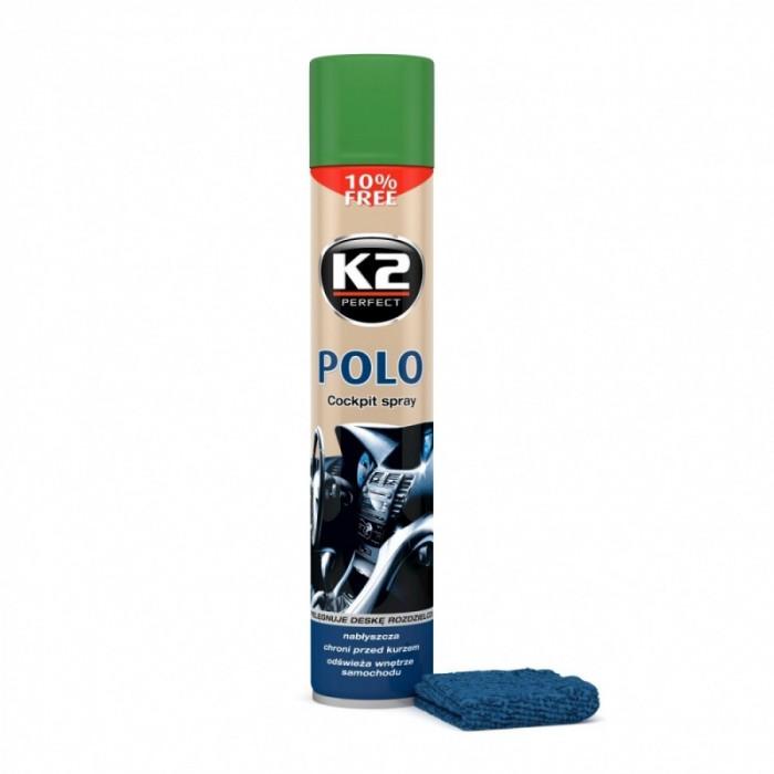 K2 Spray Silicon Polo Cockpit Pin + Laveta 750ML