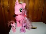 Ponei mare cu 2 ponei pui, copie My Little Pony. 24 cm Pinkie Pie copie, 4-6 ani, Fata