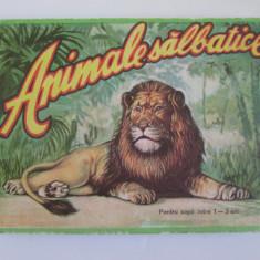 Album cartonat animale salbatice pentru copii intre 1-3 ani din anii 70