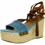Tommy Hilfiger dama Lovelle Fabric Light Blue Ankle-High Fabric Pump, 39.5, 41, 41.5, Tommy Hilfiger