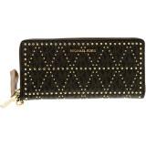 Geanta Michael Kors Dama Studded Travel Continental Leather Wallet - Maro, Michael Kors