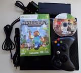 Consola Microsoft Xbox 360 Slim Elite 500Gb jocuri Minecraft GTA5 impecabil