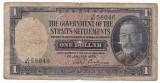 STRAITS SETTLEMENTS 1 dolar 1935 VG prefix JP-16b
