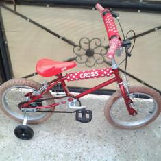 "BMX Cross / Red / bicicleta copii 16"" (6-8 ani), 1"