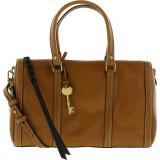 Geanta Fossil Dama Kendall Fabric Top-Handle Bag Satchel - Saddle