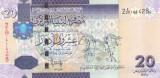 Bancnota Libia 20 Dinari (2009) - P74 UNC